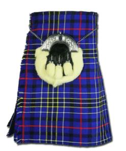 Modern Blue Tartan Kilt