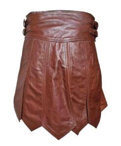 Viking Leather Kilt Back