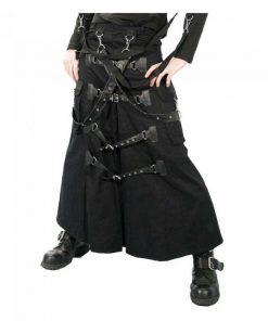 Cyber Punk Gothic Bondage Skirt